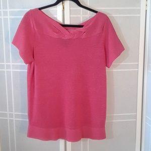 Jones NY pink heather knit top 1X
